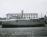 A scan of a photograph of the Revenue Cutter HUDSON