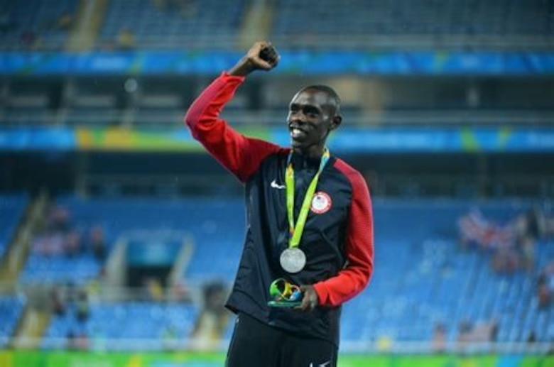 American Olympian and U.S. Army veteran Paul Chelimo will be the 2020 Air Force Marathon guest speaker.  Chelimo was the 2016 Olympic silver medalist at 5000 meters in Rio and the 2017 World Championship bronze medalist at 5000 meters. He is currently training for the 2020 Summer Olympics in Tokyo in August. (Courtesy photo)