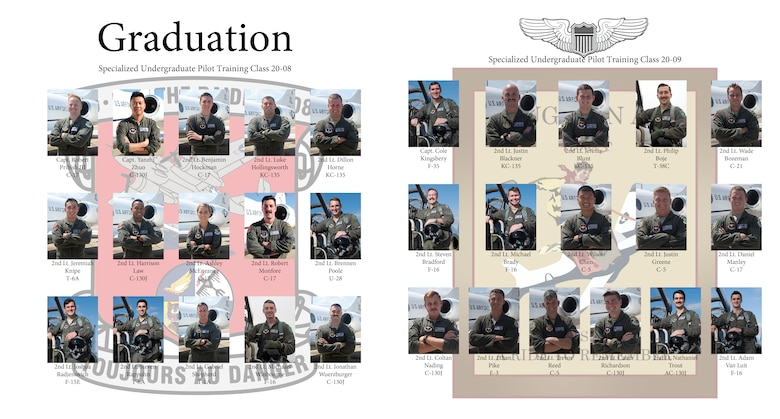All Laughlin members are invited to attend Specialized Undergraduate Pilot Training Class 20-08 and 20-0's graduation ceremony at 10 a.m., Feb. 28, 2020, in Anderson Hall, here. (U>S. Air Force graphic by Staff Sgt. Benjamin N. Valmoja)