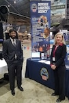 Brenda Minnema and Adil Zuber from DLA Land and Maritime participate in the Workforce We Need Summit, Feb. 24 at National Museum of the U.S. Air Force.