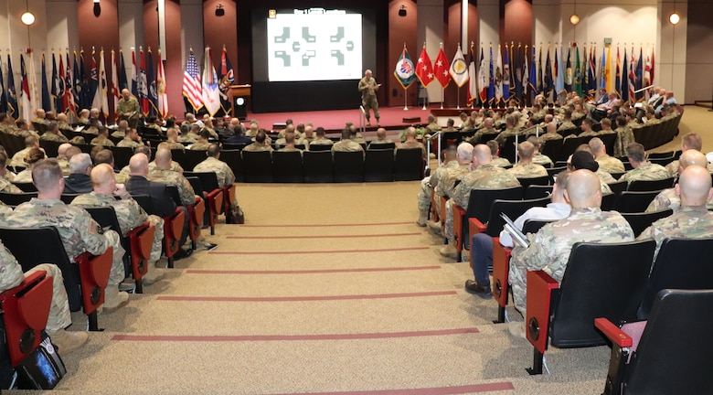 More than 280 U.S. Army aviators, maintainers and logisticians from around the world convened at U.S. Army Aviation and Missile Command Headquarters on Redstone Arsenal to attend the AMCOM 101 for Aviation forum, Feb. 19-20.