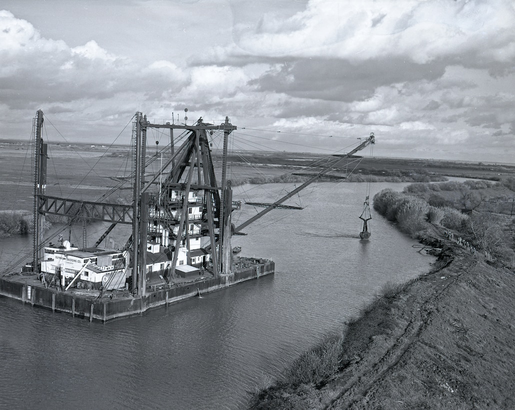 Flood Fight Barge in the Delta 1964