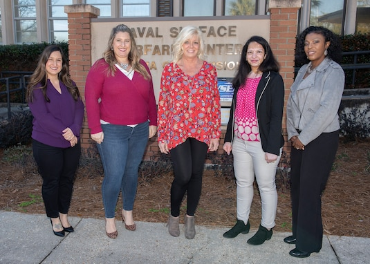SWC PCD's Samantha Snellen, Ashley Simpers, Paige Sauls, Komal Patel, and Linda Magee accomplished the Certified Defense Financial Management Certification (CDFM).