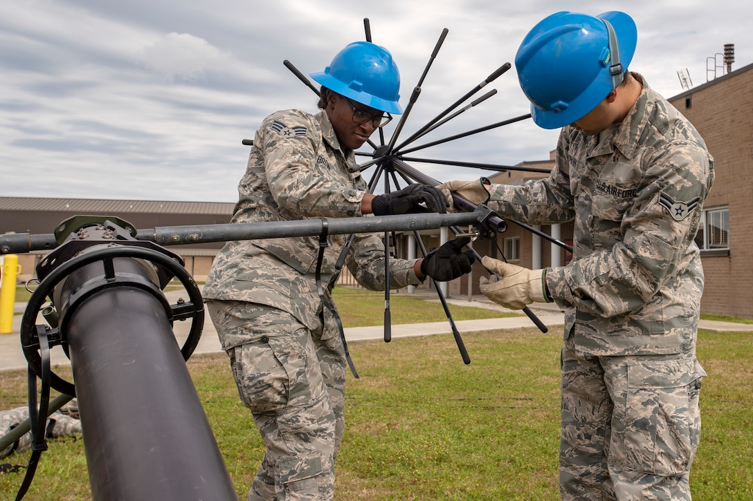 Airmen set up a Joint Incident Site Communication Capability system