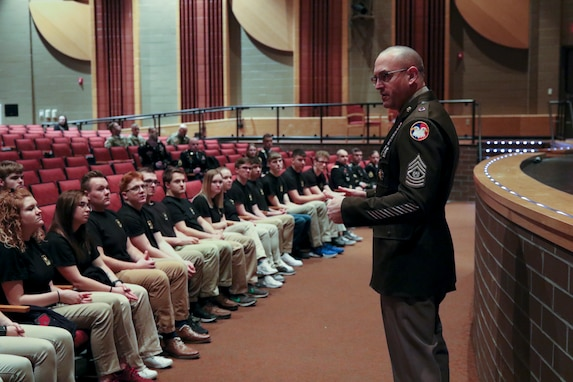 Oath of enlistment becomes out-of-this-world experience