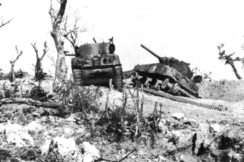 Two tanks disabled.