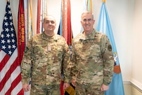 Vice Chairman of the Joint Chiefs of Staff Gen. John E. Hyten meets with Commander of the Hungarian Defence Forces Lt. Gen. Ferenc Korom, Feb. 28, 2020 at the Pentagon.