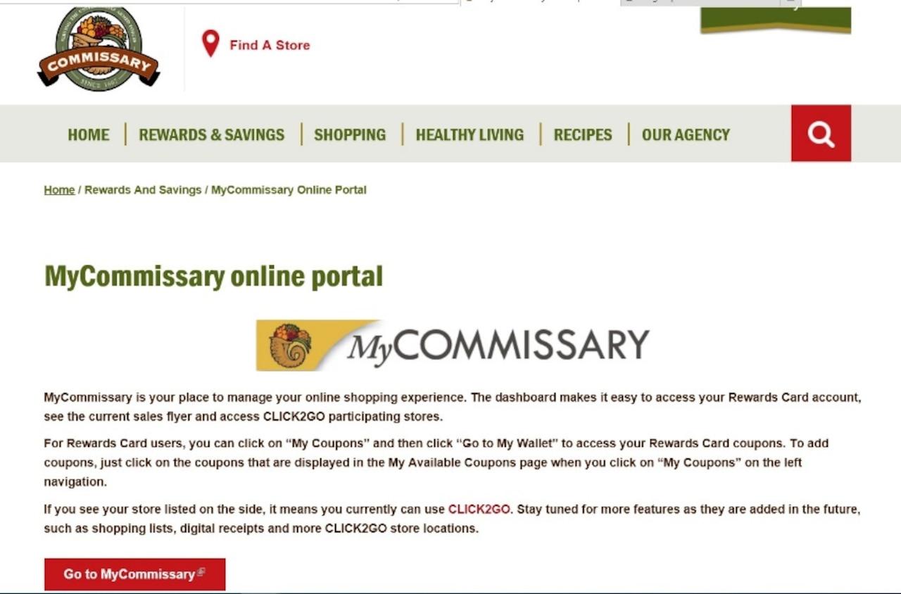 Screengrab of an online portal