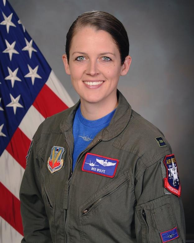An official photograph of the F-35A Lightning II Demonstration Team Pilot