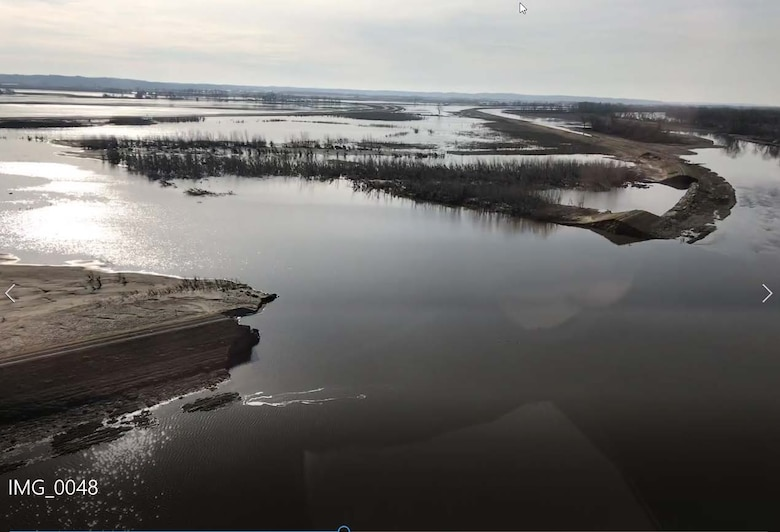 Aerial photo of the L-611-614 Breach Location April 4.