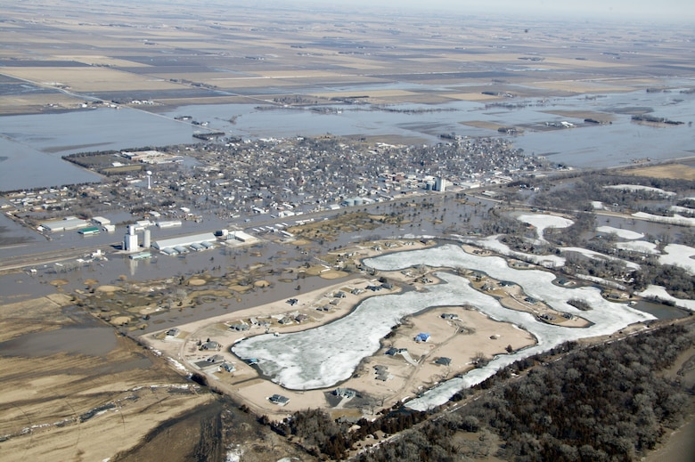 Flooding along the Platte River in North Bend, Nebraska March 18.