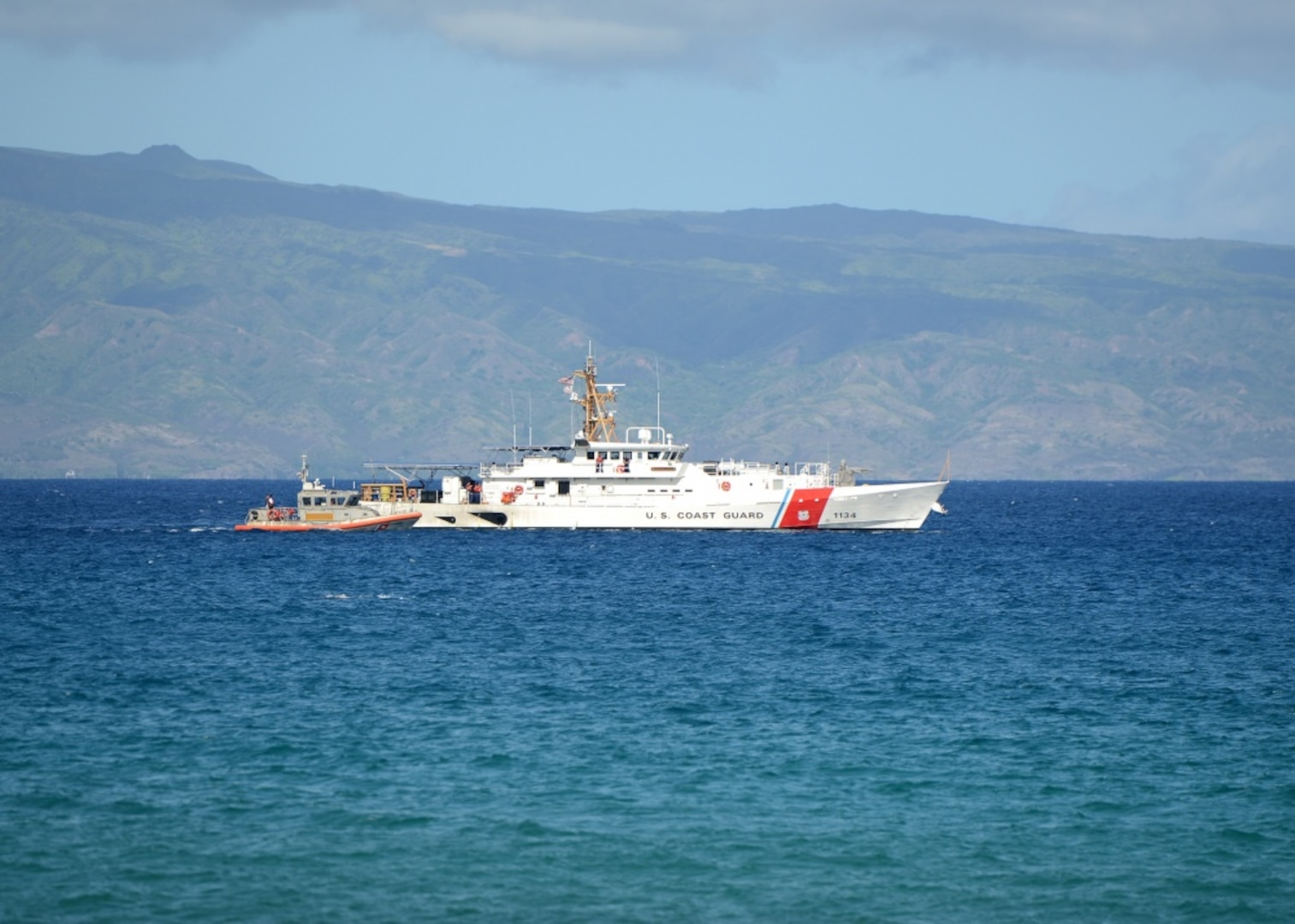 Coast Guard, Navy Medevac Passenger from Cruise Ship Off Hawaii