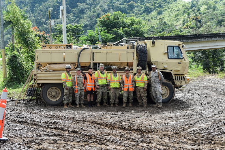Puerto Rico Air National Guard assists Cayey debris fire