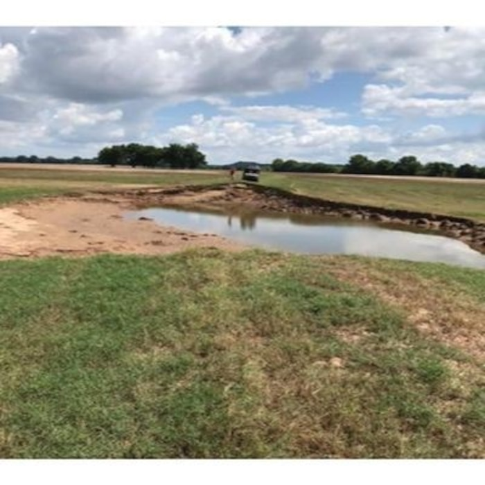 Perry County Levee after Spring 2019 Arkansas River Flood.