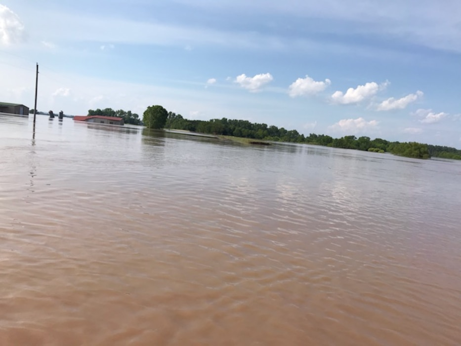 Dardanelle Drainage District after Spring 2019 Arkansas River Flood.
