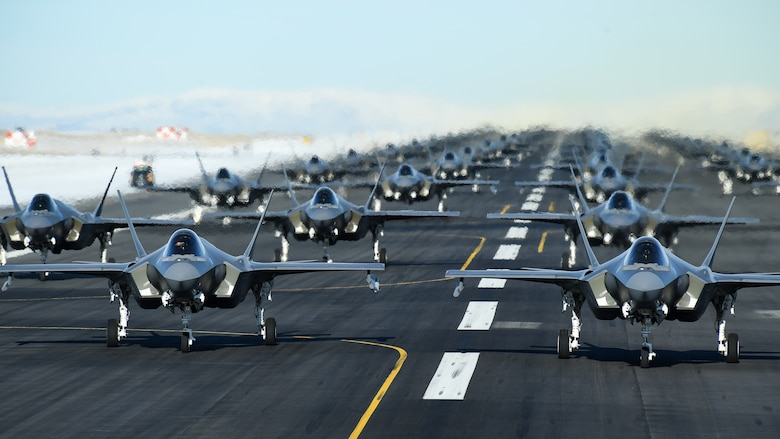 The active duty 388th and Reserve 419th Fighter Wings conducted an F-35A combat power exercise at Hill Air Force Base