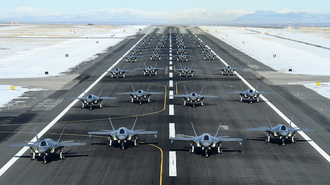 Photo of F-35s on Hill AFB