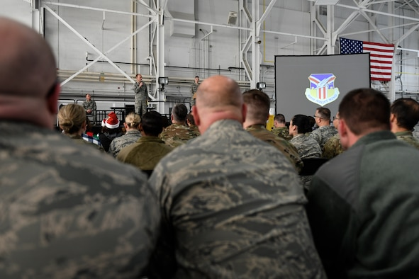 The 910th Airlift Wing's Christmas Commanders Call was held on Dec. 7, 2019, at Youngstown Air Reserve Station.