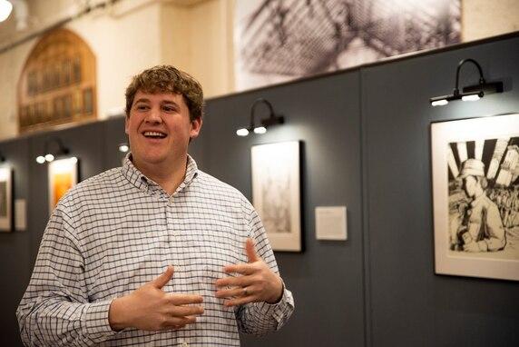 RIA Museum director Patrick Allie discusses the EVAC art exhibit.