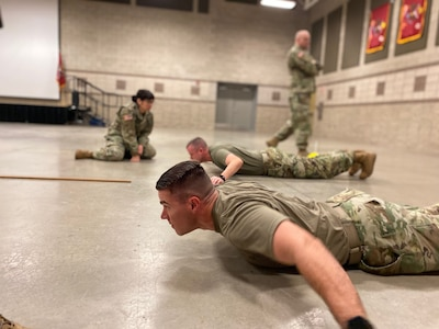 The competition included tests on basic soldiering skills, land navigation, First Aid, physical fitness, and army doctrine.