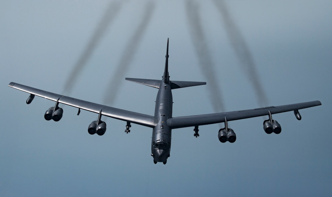 A B-52H Stratofortress over Southwest Asia