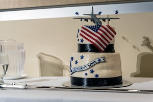 Ceremonial cake pictured.