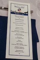 Military ball program pictured.