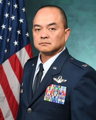 Official portrait of the Vice Commander of the 146th Airlift Wing.