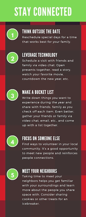 Five tips to help service members stay connected (infographic)
