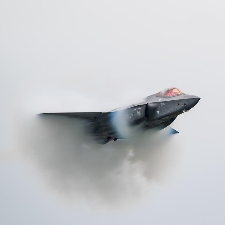 F-35 Lightning II demonstration team pilot and commander, performs aerial maneuvers