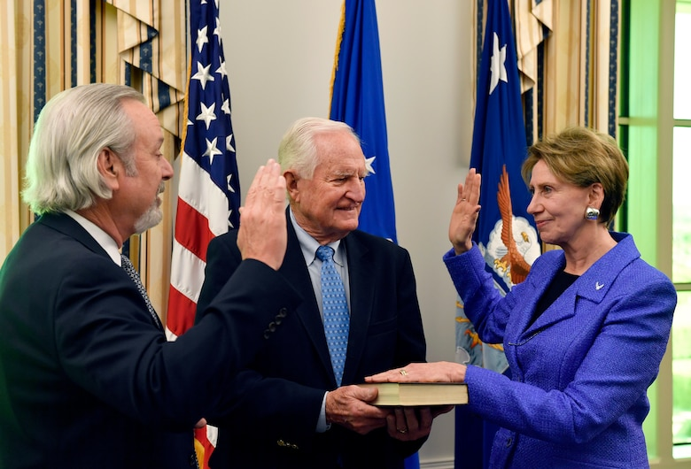 Barbara M. Barrett takes the administrative oath of office