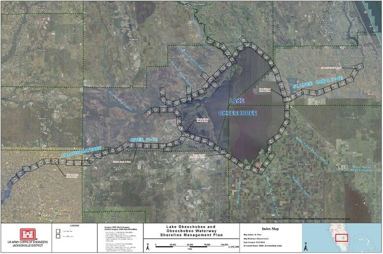 Lake Okeechobee and Okeechobee Waterway Shoreline Management Plan Map