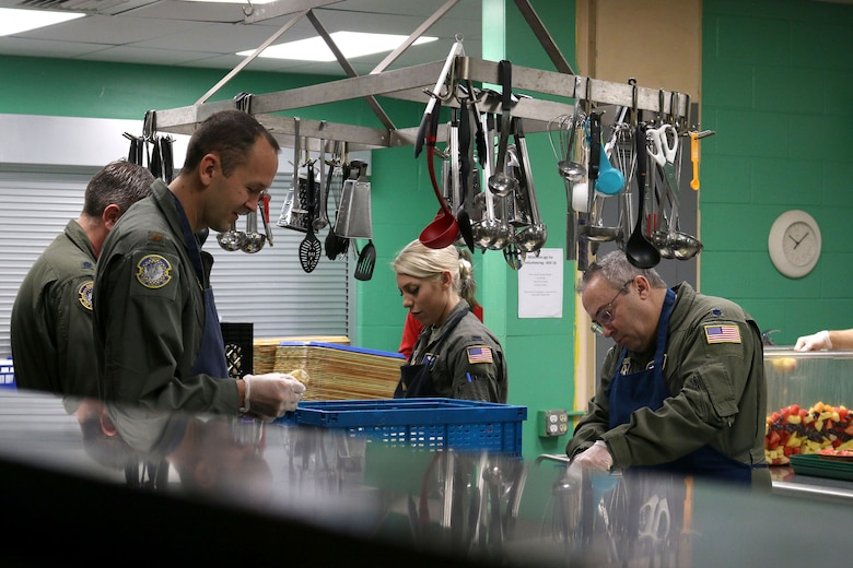 Ten Airmen from the 89th Airlift Squadron volunteer at the House of Bread, Dayton, Ohio, Dec. 8, 2019. The House of Bread serves nearly 250 people a day. (U.S. Air Force photo/Staff Sgt. Joel McCullough)