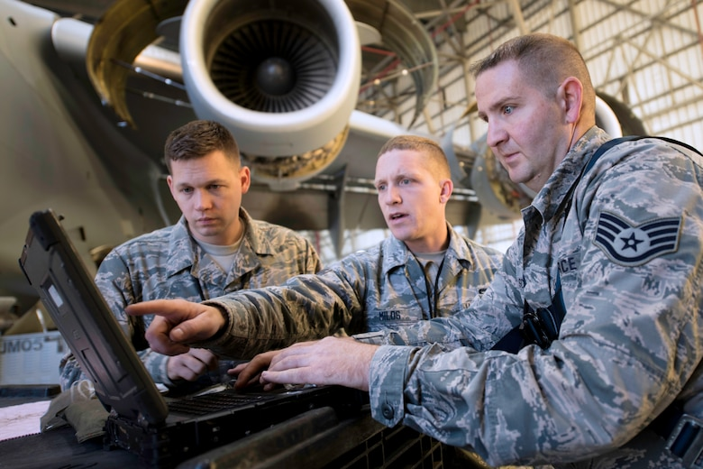 The upkeep of 40 Joint Base Charleston C-17 Globemasters takes a highly trained team of maintenance professionals to identify and repair problems. This responsibility falls under the 437th Maintenance Flight. The flight has four different work centers which make up home station check and consists of crew chiefs, jet engine mechanics, repair and reclamation and wheel and tire team members
