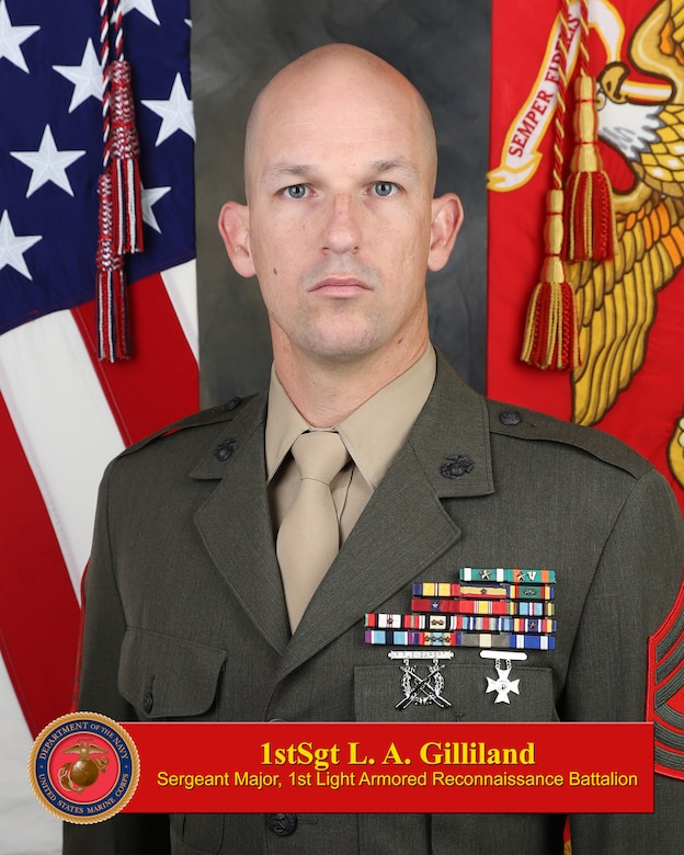 1stSgt. Gilliland Bio Photo