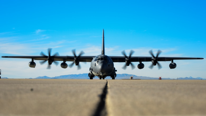 HC-130J sits on flight line