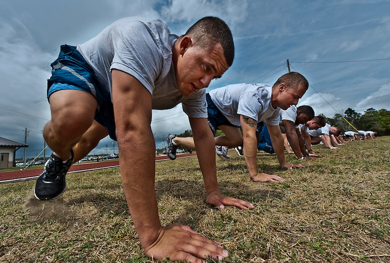 Airmen PT training