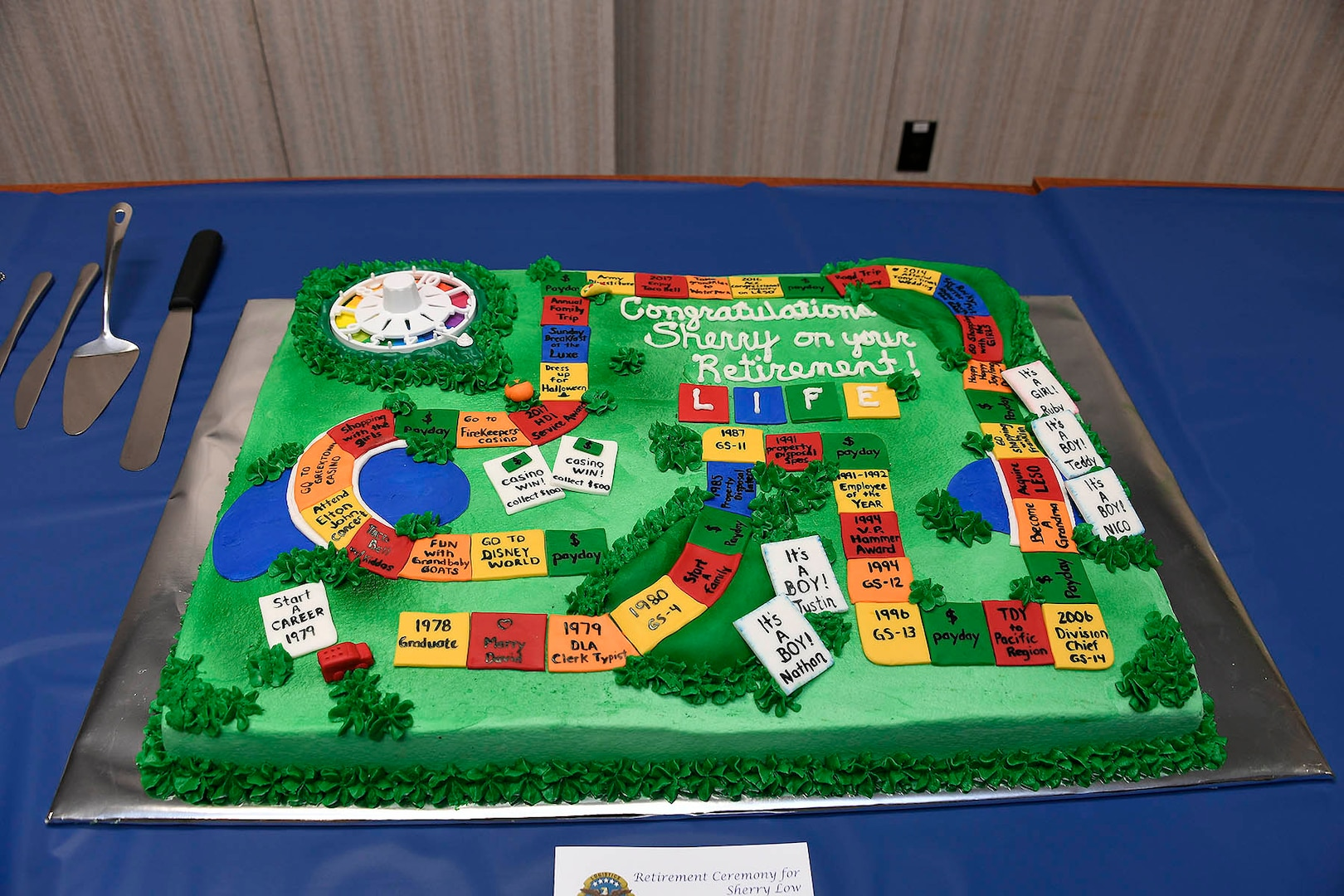 cake made to look like the board game life