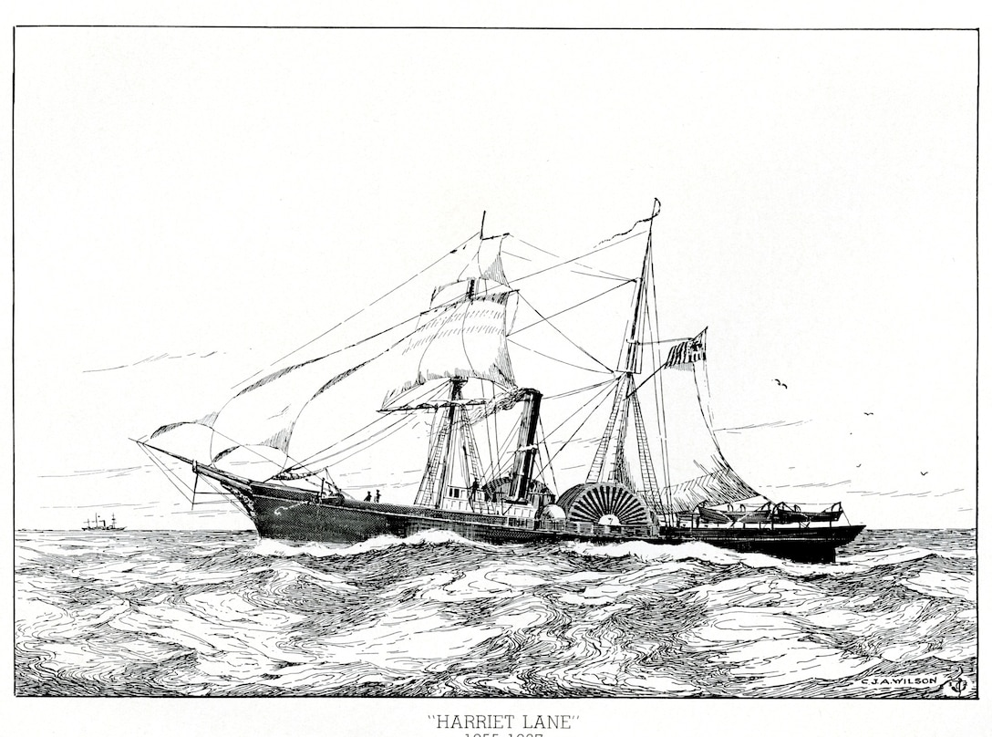 A drawing of the Revenue Cutter Harriet Lane