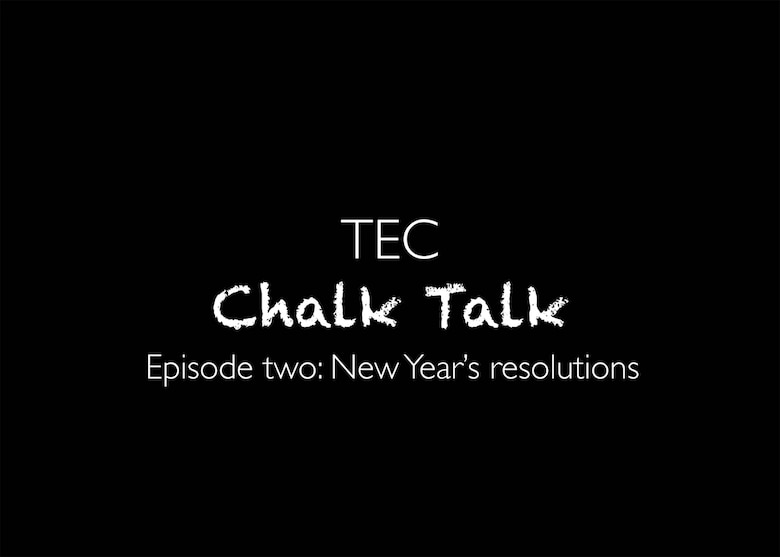 Chalk Talk: New Year's resolutions