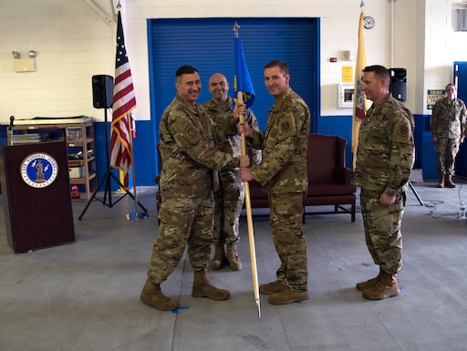 Lt. Col. Matthew Schnell assumes command of the 108th Maintenance Squadron at Joint Base McGuire-Dix-Lakehurst, N.J., Jan. 11, 2020. Change of command ceremonies are rooted in military tradition dating back to the 18th century.