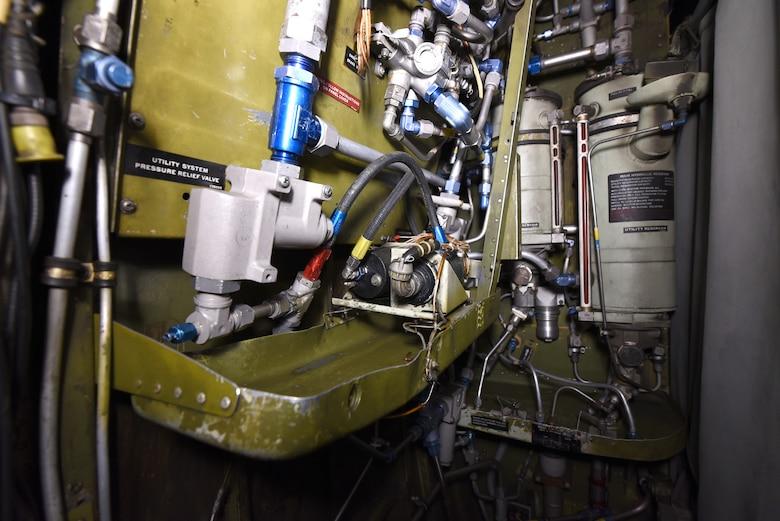 Interior view of a C-130 gunship.