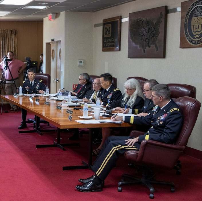 MRC members listen to testimony at public meeting in Vicksburg, MS, Aug 21, 2019.