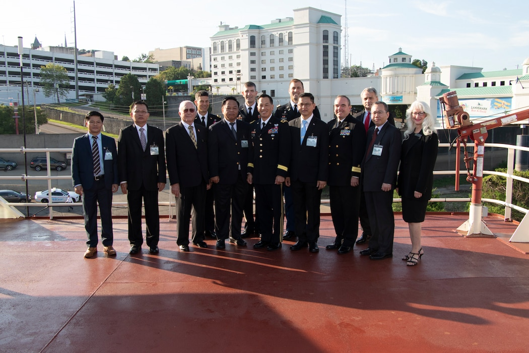 On Aug. 21, 2019, Mississippi River Commissioners welcomed the Mekong River Commission aboard the MV Mississippi in Vicksburg, MS and celebrated the 10-year sister partnership. The Mekong Commission was very interested in the MRC's public hearing process.