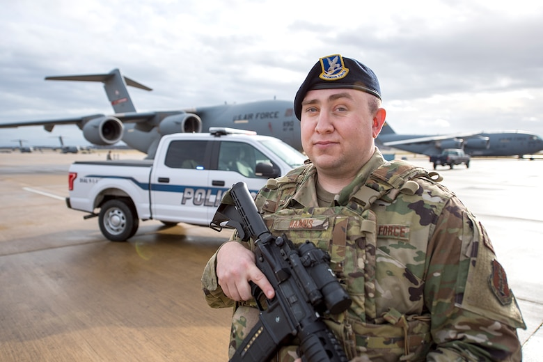 Staff Sgt. Geoffrey Harris is a security forces specialist for the 167th Security Forces Squadron and the 167th Airlift Wing Airman Spotlight for January 2020