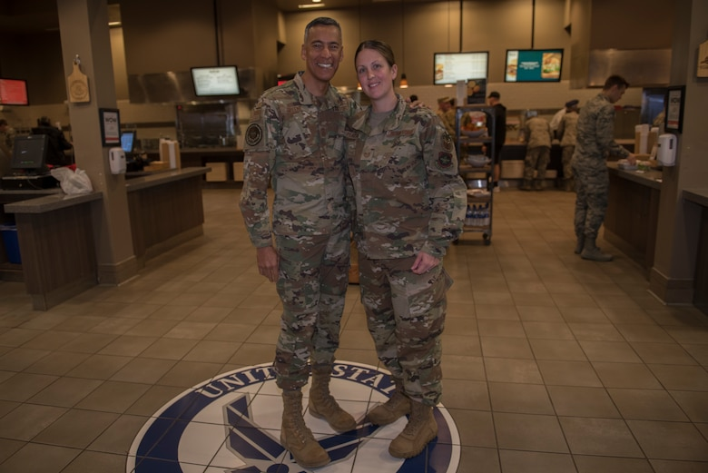 U.S. Air Force Chief Master Sgt. Terrence Greene, Air Mobility Command command chief, visited Travis to gain a better understanding of how the base enhances the rapid global mobility mission.