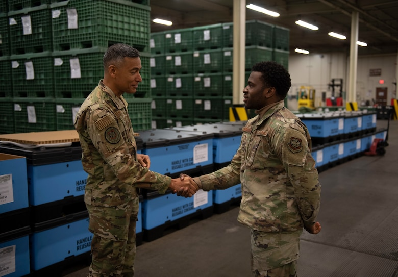 U.S. Air Force Chief Master Sgt Terrence Greene visited Travis AFB to better understand how the base impacts rapid global mobility.
