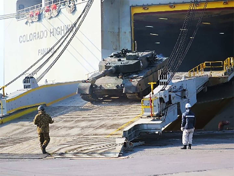 836th Trans. Bn. Participates in Bilateral Port Operation at Tomakomai