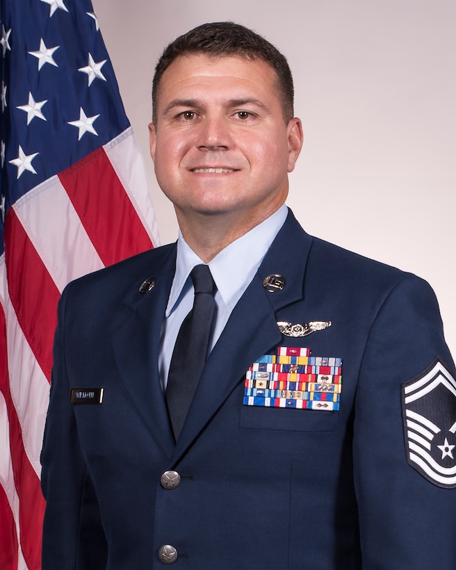 Senior Master Sgt. Michael Wilmouth, the 188th Wing Outstanding Senior NCO of the Year. Wilmouth was also named Outstanding Senior NCO for the Arkansas Air National Guard and is assigned to the 188th Operations Group. (U.S. Air National Guard photo, Tech. Sgt. John E. Hillier)