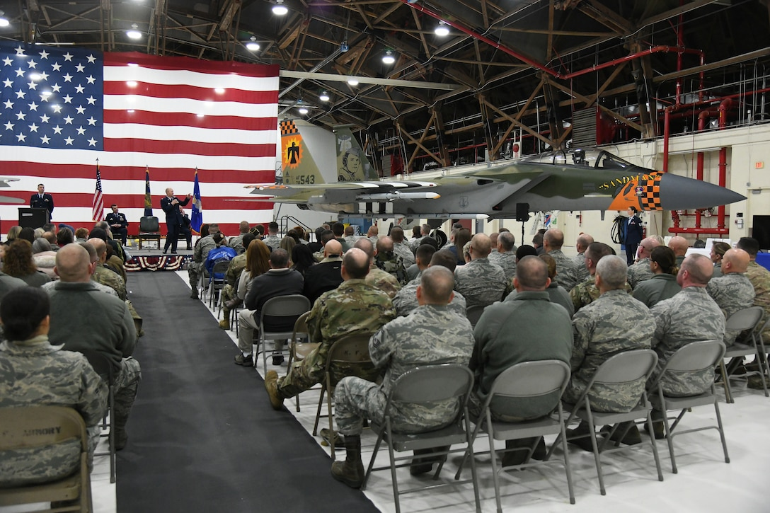 F-15 Heritage Jet Dedication Ceremony